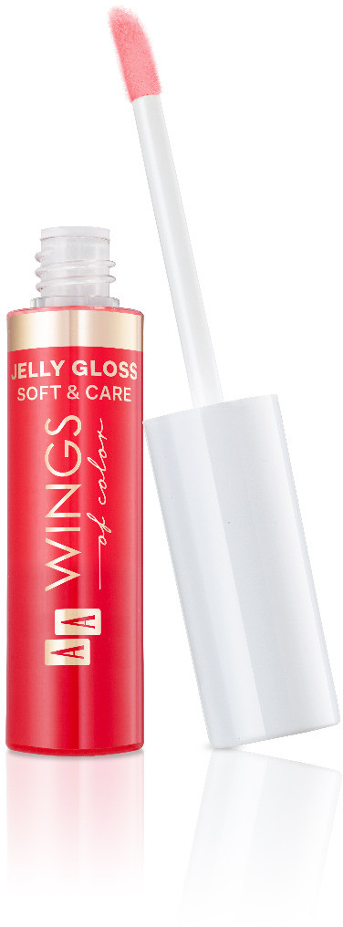 Oceanic AA WINGS OF COLOR Jelly Gloss Soft&Care 02 Raspberry Błyszczyk Do Ust 9ml