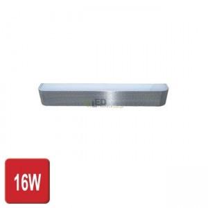 PremiumLUX OPRAWA NAŚCIENNA KINKIET LED FONTANNA 16W SREBRNY CL151-S