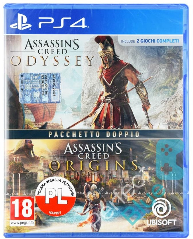Assassins Creed Origins + Odyssey (GRA PS4)