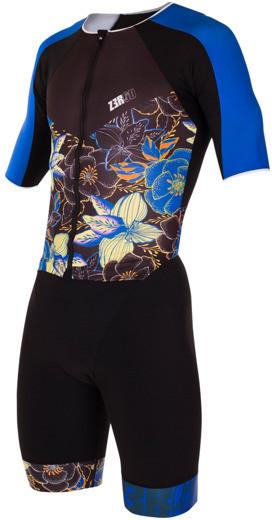 ZEROD strój triathlonowy RACER TT SUIT KONA czarno-niebieski