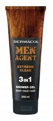 Dermacol Men Agent Extreme Clean 3in1 żel pod prysznic 250 ml dla mężczyzn