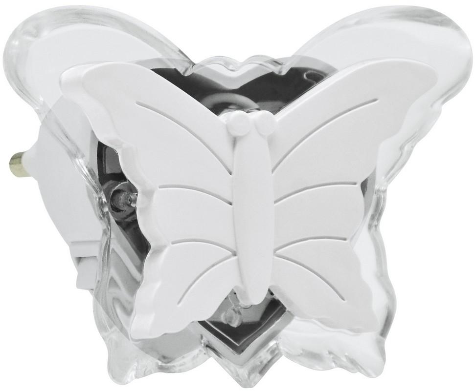 Polux LED Nocne światełko do gniazdka LED/0,4W/230V biały motyl