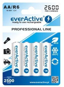 EverActive R6/AA 2600mAh Professional line opak 4 akumulatorki blister EVHRL6-2600 EVHRL6-2600
