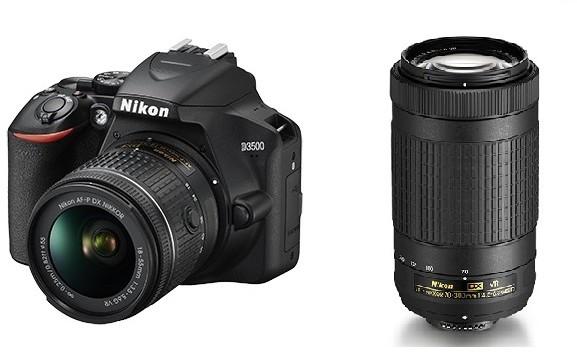 Nikon D3500 + AF-P 18-55 VR + AF-P 70-300 VR (VBA550K005)
