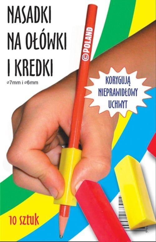 Wydawnictwo Harmonia Trójkątne nasadki na ołówki i kredki 10 szt