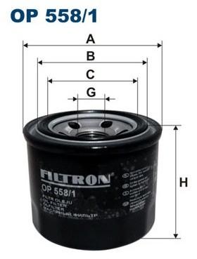 Filtron OP 558/1 FILTR OLEJU