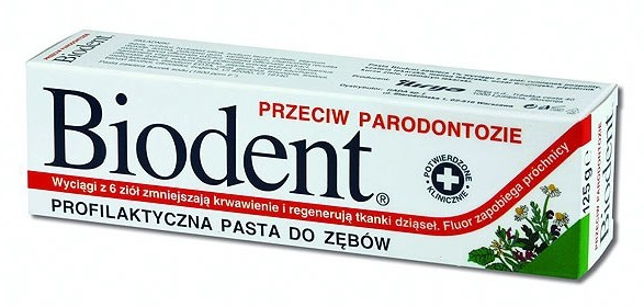 Biodent Pasta do zębów przeciw parodontozie 75g RADA