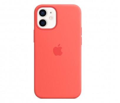 Apple Silikonowe etui iPhone 12 mini różowy cytrus