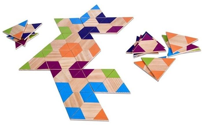 MOKOPIKO Domino drewniane Trójkąty