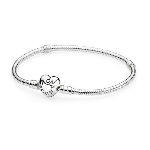 Pandora bransoletka srebro serce zamknięcie 590719, srebro sterling próby 925 590719-21