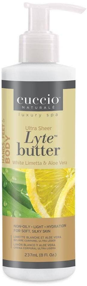 Cuccio Aloe Vera i limetka ultra lekkie masło do ciała 237 ml MASŁO LYTE ALOES LI