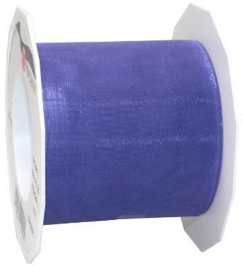 Unbekannt Taśma Organza Sheer Niebieski 72MM X 25m na rolce | wstążka prezentowa taśma Sheer niebieskim | niebieski | taśma organza niebieska | taśma organza niebieska 72MM 6017525-611