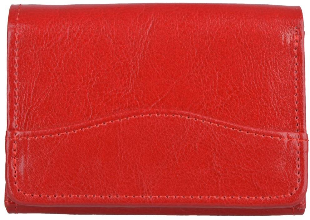Kemer Portfel damski skórzany P11 Czerwony - czerwony