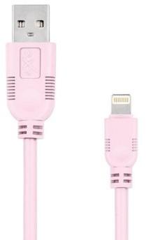 EXC Kabel USB 2.0 eXc WHIPPY USB A M Lightning 8-pin M 2m jasny różowy KKE0KKBU05S0