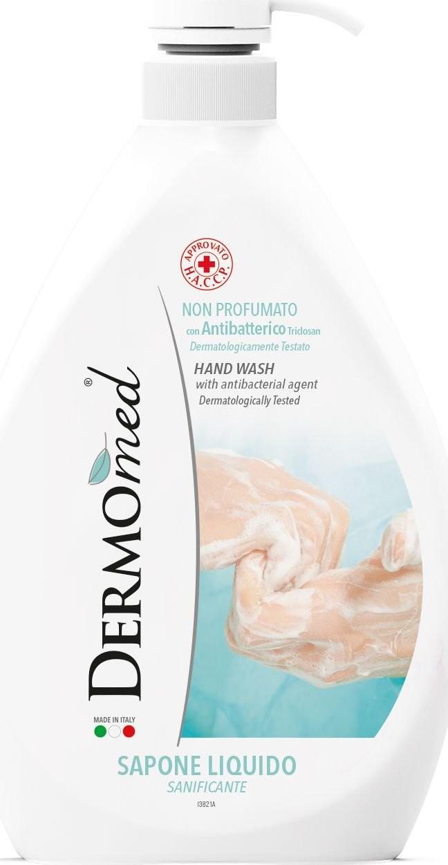 Dermomed Dermomed DERMOmed ANTYBAKTERYJNE mydło do mycia rąk BEZZAPACHOWE 1L 8032680390814