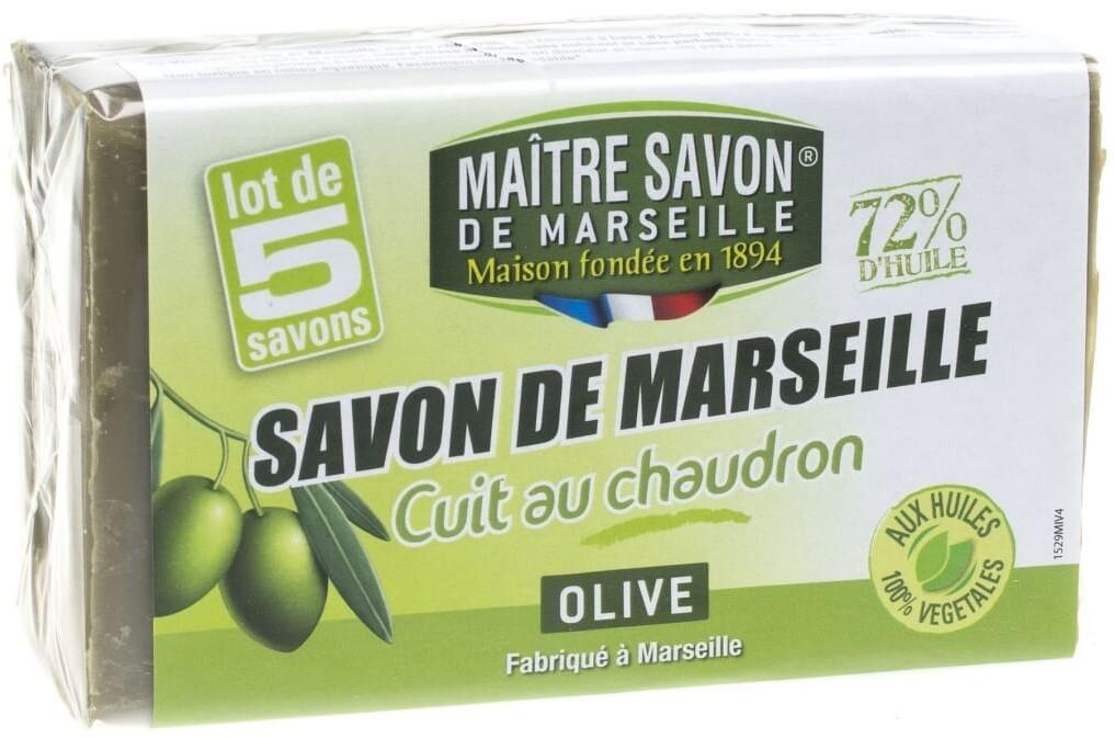 Maitre Savon De Marseille Mydło marsylskie oliwkowe 5 x 100 g