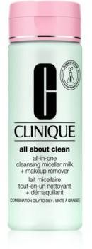 Clinique Clinique All About Clean All-in-One Cleansing Micellar Milk + Makeup Remove delikatne mleczko oczyszczające do skóry tłustej i mieszanej 200 ml