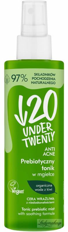 UNDER TWENTY ANTI ACNE - TONIC PREBIOTIC MIST - Prebiotyczny tonik w mgiełce Cera wrażliwa z niedoskonałościami 200ml