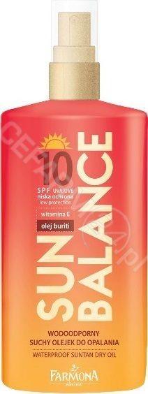 Sun Balance Wodoodporny suchy olejek do opalania SPF10 150ml