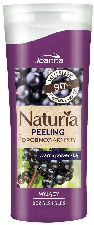 Joanna Naturia drobnoziarnisty myjący peeling do ciała Czarna Porzeczka 100g