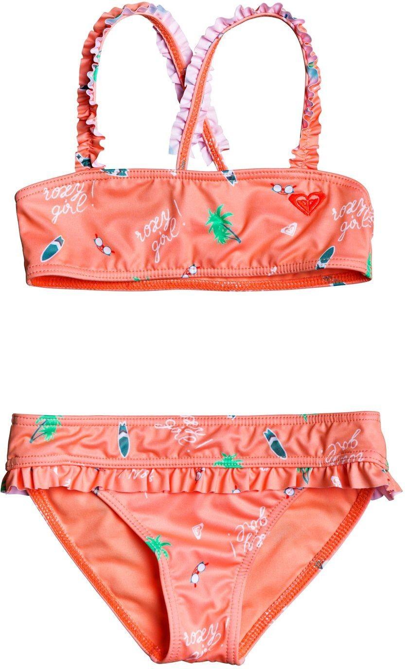 Roxy dwuczęściowy strój kąpielowy dla SALTY BUT SWEET Souffle Summer Hobbies Swim XMWS