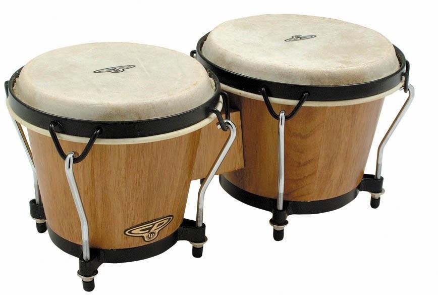 Latin Percussion CP221 DW bongosy ciemne