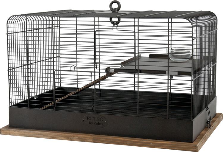 Zolux Klatka Retro Fernand dla gryzoni 35x35x55 cm kol czarny