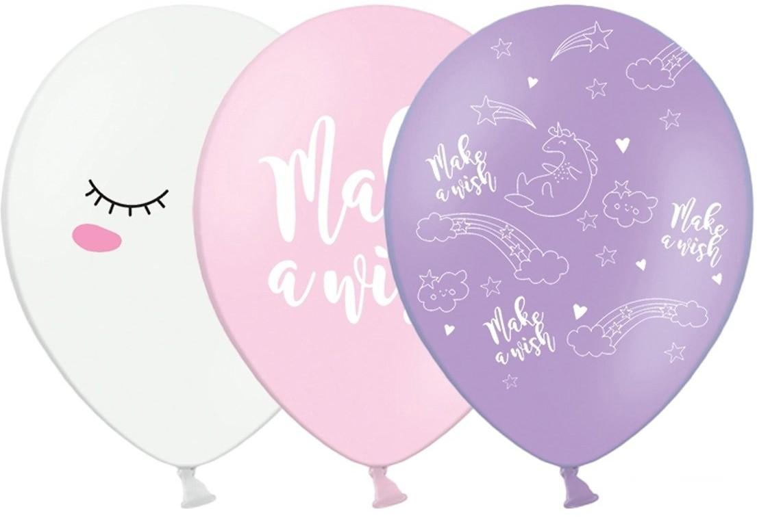 Party Deco Balon pastelowy Jednorożec - 30 cm - 6 szt. SB14P-204-000-6