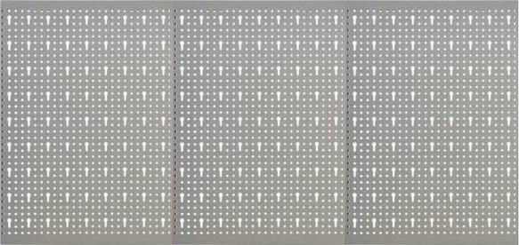 vidaXL Płyta wolnostojąca  Ścienne płyty perforowane 3 szt. 40x58 cm stal 145349