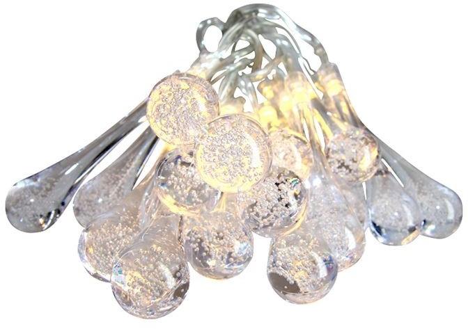 Sople plastikowe LED dekoracja na baterie EKD3942