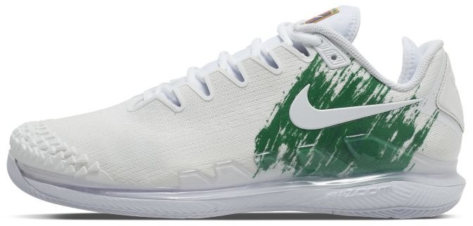 Nike Męskie buty do tenisa na twarde korty NikeCourt Air Zoom Vapor X Knit - Biel AR0496-111