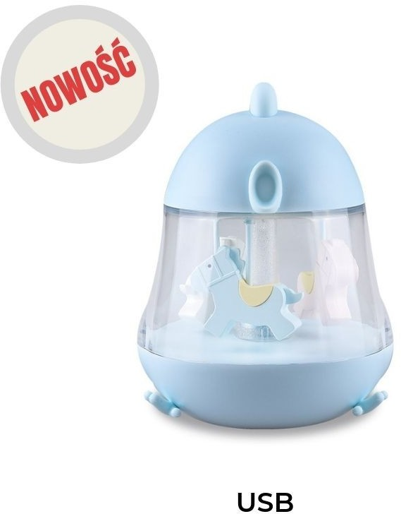 Rabbit Niebieski Kurczaczek - Lampka Z Pozytywką - Rabbit & Friends 10N