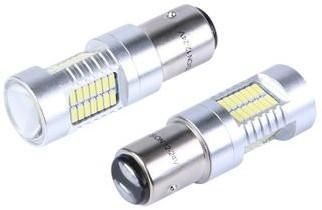 Vision Żarówka samochodowa LED VISION P21/5W BAY15d 12/24V 52x 4014 SMD z soczewką CANBUS biała 2 szt 9718