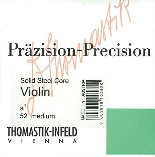 Thomastik thomastik struny do skrzypiec ze stali precyzyjnej rdzeń lity zestaw (50/51/53/54); miękki