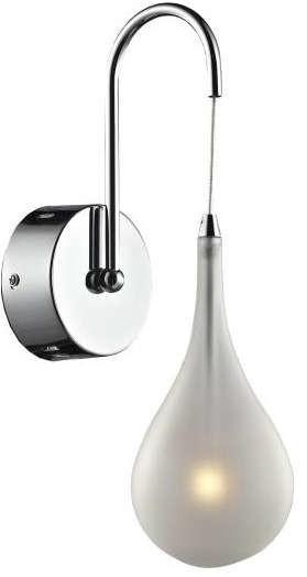 Inne Kinkiet LAMPA ścienna LAMP 299/K szklana OPRAWA łezka kropla ferrara biała LAMP 299/K