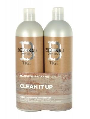 Tigi Bed Head Men Clean Up zestaw 750ml Bed Head Men Clean Up Shampoo + 750ml Bed Head Men Clean Up Conditioner dla mężczyzn