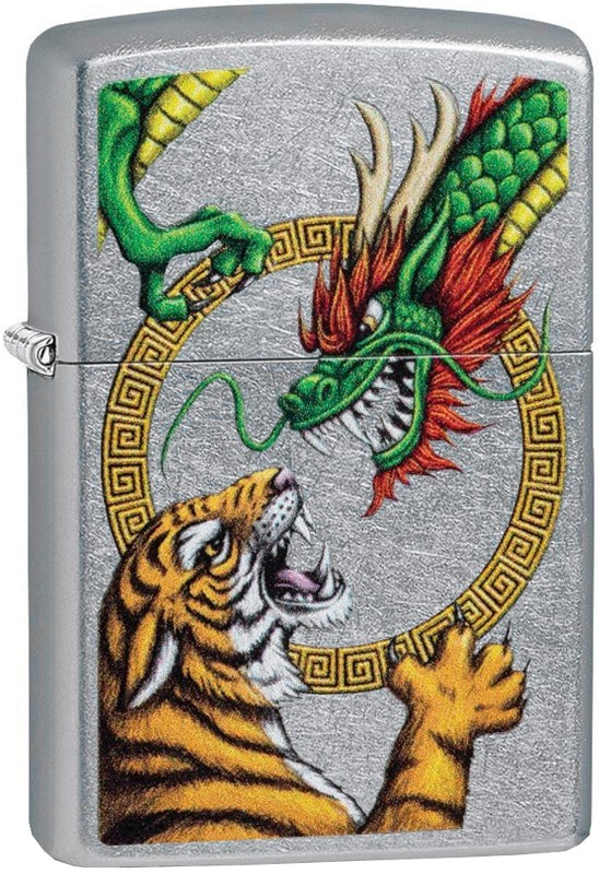 Zippo 29837 Chinese Dragon Street Chrome Design zapalniczka 191693087123
