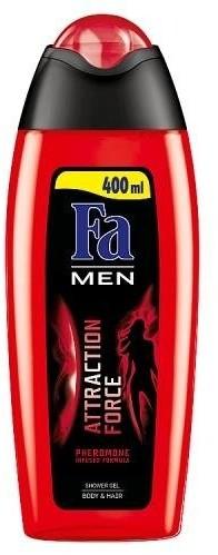 Fa Men Attraction Force Shower Gel żel pod prysznic do mycia ciała i włosów dla mężczyzn Pheromone 400ml