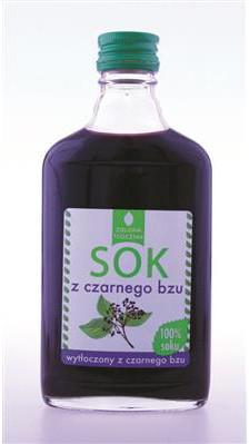 BadaPak Sok z czarnego bzu 200ml bez dodatków cukru i konserwantów 12 szt.