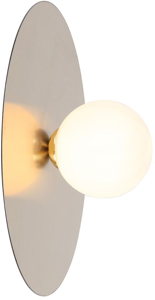 Italux Spoletto WL-201923-1 kinkiet lampa ścienna 1x40W G9 złoty/biały