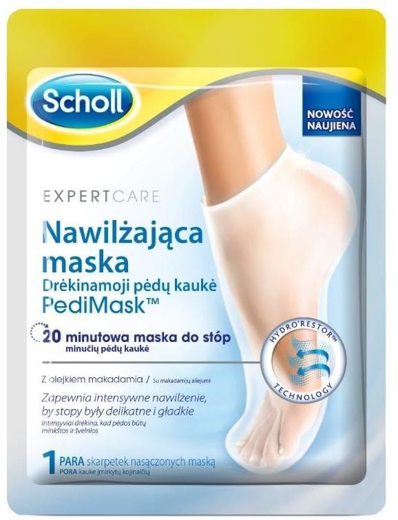 Scholl Expert Care Pedi Mask maska nawilżająca do stóp Olejek Makadamia 70679-uniw