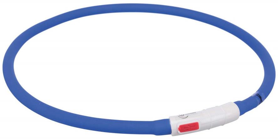 Trixie Opaska silikonowa LED dla psa kolor niebieski rozm XS-XL nr kat 12642