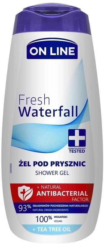 On Line NATURAL ANTIBACTERIAL FACTOR ŻEL POD PRYSZNIC FRESH WATERFALL 400ML