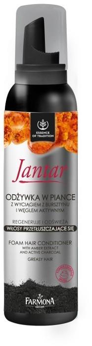 Farmona Jantar odżywka w piance z wyciągiem z bursztynu i węglem aktywnym do włosów przetłuszczających się 180ml fo