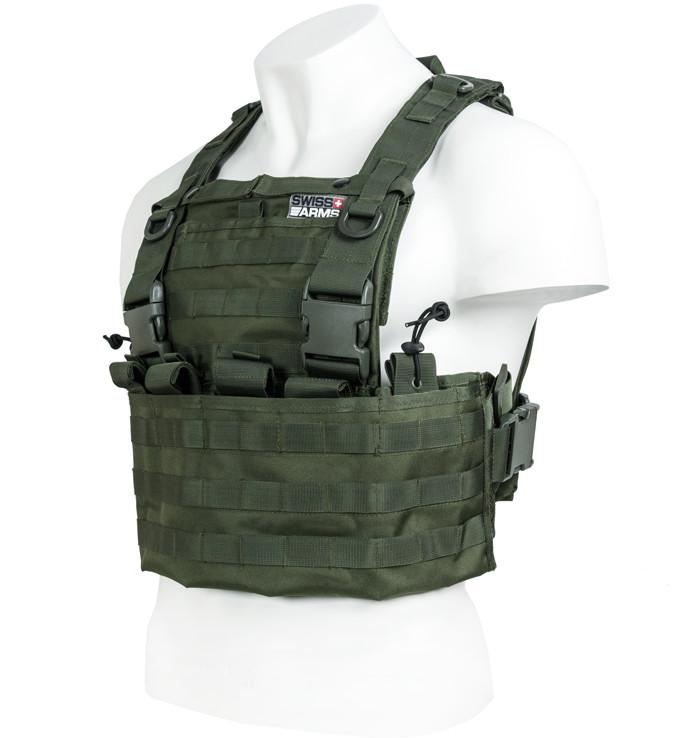 CyberGun Kamizelka taktyczna Swiss Arms Molle - OD Green (604035)