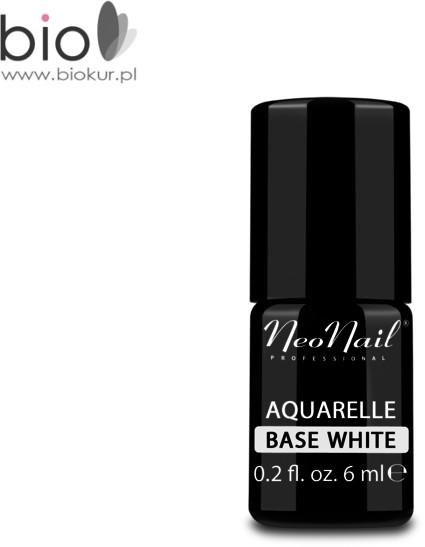 Neonail Lakier Hybrydowy 6 ml Aquarelle Base White 5485-1