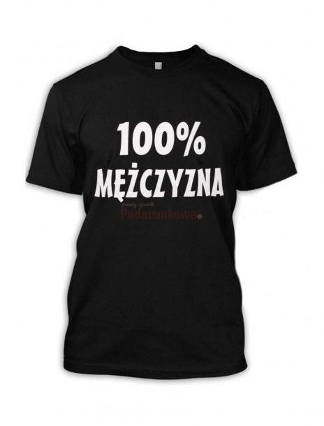 - Koszulka 100% Mężczyzna