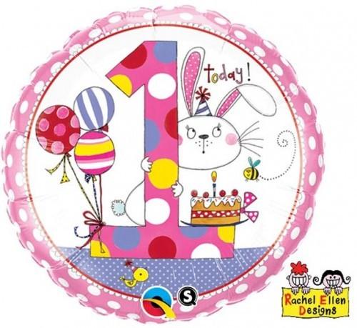 GoDAN Balon foliowy QL: 1 dla dziewczynki, 18
