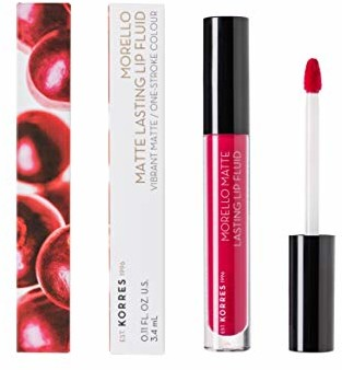 Korres KORRES MORELLO Matte Lasting Lip Fluid - Nr. 29 Strawberry Kiss, 3.4 ml