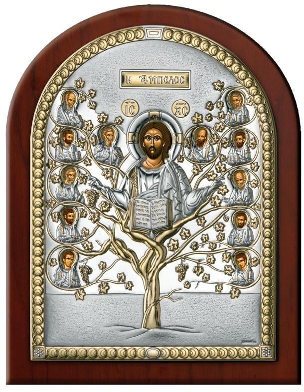 Valenti Ikona Jezus i 12 apostołów   Rozmiar: 12x16 cm   SKU: VL84300/3LORO